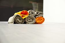 Free Colored Towel Royalty Free Stock Photography - 15118797