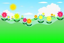 Free Floral Banner Royalty Free Stock Image - 15119456