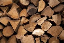 Free Pile Of Chopped Logs Stock Photography - 15119752