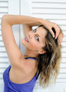Free Portrait Of Summer Sexy Girl Near White Window Stock Image - 15124881