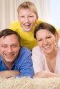 Free Happy Family Three Stock Photos - 15129393