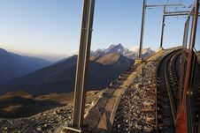 Free Cog Railway Up To The Peaks Of The Alps Stock Photos - 15122343