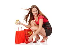 Free Shopping Woman Royalty Free Stock Images - 15122639