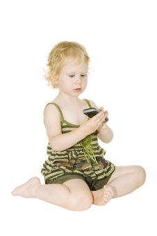 Free Girl With Mobile Phone Stock Images - 15123884