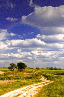 Free Light Rain Over Land Stock Image - 15124561