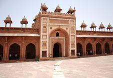 Free Badshahi Gate At Fatehpur Sikri Stock Images - 15125494