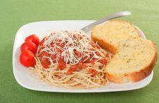 Free Spaghetti Dinner Royalty Free Stock Photo - 15126115