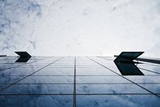 Blue Sky And Office Building Stock Photos