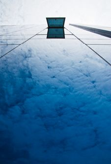 Blue Sky And Office Building Royalty Free Stock Photography