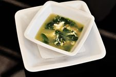 Free Bowl With Herb Soup Royalty Free Stock Photos - 15127298