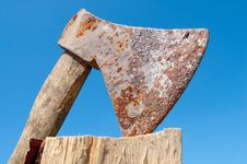 Old Ax Stock Photo