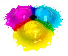 Free CMYK Splash Royalty Free Stock Photos - 15128648