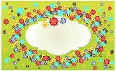 Free Abstract Floral Banner. Royalty Free Stock Photos - 15128838