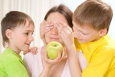 Mother With Her Children Royalty Free Stock Photography