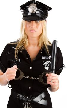 Free Policewoman In On Duty Stock Photography - 15129632