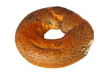 Free Bagel With Poppy Seeds Stock Photography - 15129682