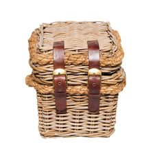 Small Wicker Basket Royalty Free Stock Photos
