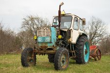 Free Old Wheeled Tractor Royalty Free Stock Photography - 15129747