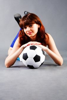 Free Young Girl With A Soccer Ball Royalty Free Stock Photography - 15129837
