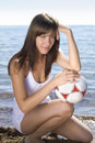 Free Girl With A Ball Stock Photos - 15131163