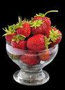 Free Juicy Strawberry Glass Bowl Stock Images - 15132524