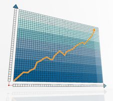 Free Blue Business Graph Royalty Free Stock Photos - 15130068