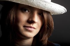 Free White Hat Royalty Free Stock Photography - 15130077