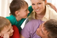 Free Parents With Their Two Children Stock Image - 15130281