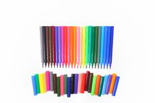 Free Pen Markers Royalty Free Stock Image - 15130296
