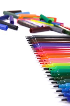Free Pen Markers Royalty Free Stock Image - 15130306