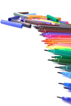 Free Pen Markers Royalty Free Stock Photos - 15130338