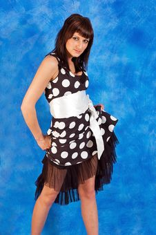 Free Girl In Polka-dot Dress Stock Photography - 15130702