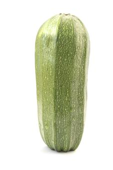 Free Single Green Zucchini Isolated On White Royalty Free Stock Photo - 15130735