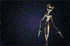 Space Alien Stars Royalty Free Stock Image