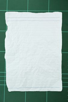 Free Tear White Crumpled Paper With Line On Green Board Royalty Free Stock Photography - 15130987