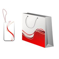 Free Shopping Bag And A Tag With Model. Stock Image - 15131781