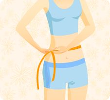 Free Waist Measuring 2 Stock Images - 15131824