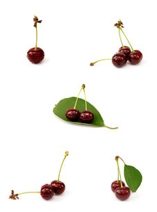 Free Collection Of Five Photoes Of Cherries Stock Photos - 15132013
