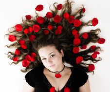 Free Girl With Roses Stock Photos - 15132203