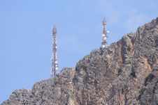 Free Gsm Antenna On Rocks Stock Photo - 15132460