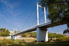 Bridge Over The River Of Ural In Orenburg. Stock Photos