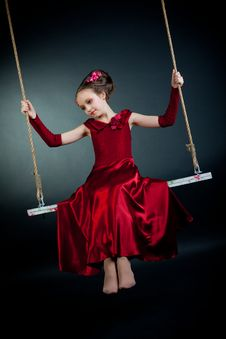 Free Young Girl Posing On Black Background Royalty Free Stock Photo - 15132465