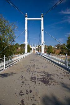 Bridge Over The River Of Ural In Orenburg. Stock Images