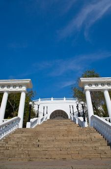 Free Stairs And Colonnade In Orenburg. Stock Images - 15132494