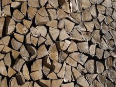 Free Wood Chopped And Stacked Royalty Free Stock Photos - 15133738