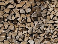 Free Wood Chopped And Stacked Royalty Free Stock Photo - 15133825