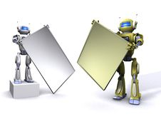 Free Robot With Empty Billboard Stock Photo - 15133840