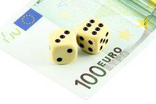 Free Two Dices On Euro Stock Photo - 15133920
