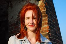 Free Smiling Woman With Red Hair Royalty Free Stock Images - 15134119