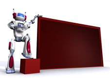 Free Robot With Empty Billboard Royalty Free Stock Image - 15134616